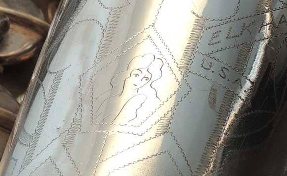 Naked Lady Engraving