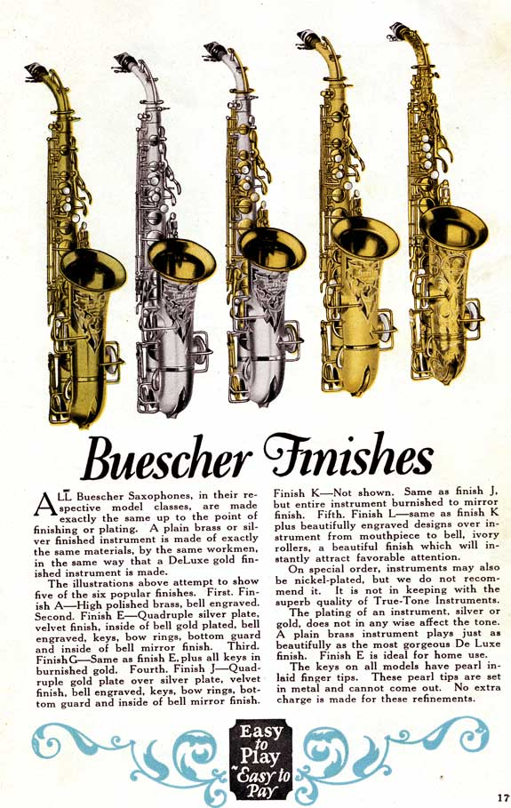 Vintage Saxophones: Buescher Finishes