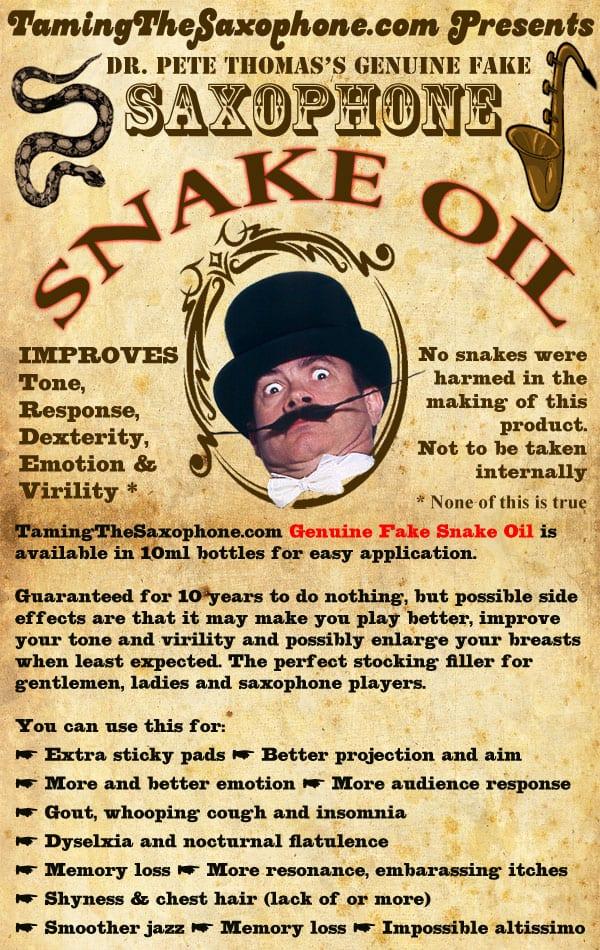 Saxophone Snake Oil