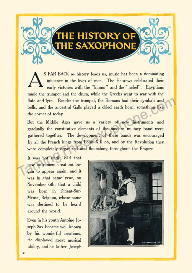 Story of the Saxophone slide 3
