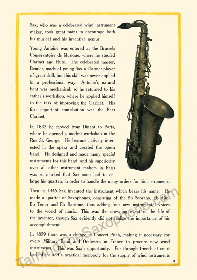 Story of the Saxophone slide 4