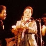 On stage with Fats Domino