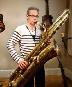 Pete Thomas bass saxophone